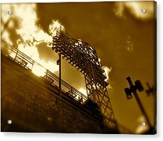 Light  Fenway Park Acrylic Print by Iconic Images Art Gallery David Pucciarelli