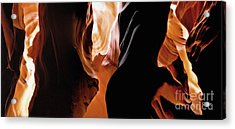 Slot Canyon--light From Above-3 Acrylic Print by Linda  Parker