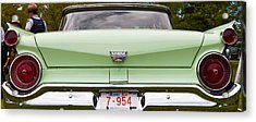 Acrylic Print featuring the photograph Light Green Classic Car by Mick Flynn