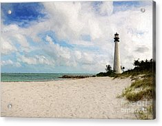 Light House On The Beach Acrylic Print