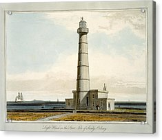 Light House On The Start, Isle Acrylic Print by William Daniell