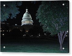 Light In The Capitol Acrylic Print by Frank Savarese