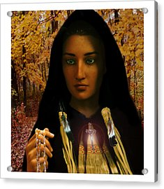 Saint Kateri Tekakwitha Light In The Darkness Acrylic Print by Suzanne Silvir