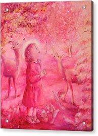 Light Of The Heart Acrylic Print by Marija Schwarz