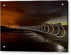 Light Play On Saunton Sands Acrylic Print by Pete Hemington