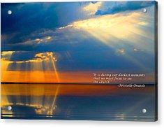 Light Quote Aristotle Onassis Acrylic Print