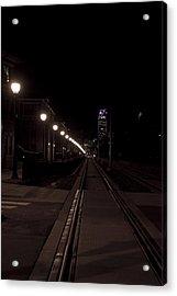 Light Rail Acrylic Print by Doug Hubbard