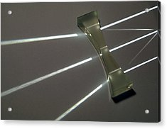 Light Rays And Concave Prism Acrylic Print