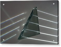 Light Rays And Triangular Prism Acrylic Print