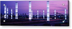 Light Sculptures Lit Up At Night, Lax Acrylic Print