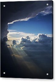 Light Shafts From Thunderstorm II Acrylic Print