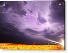 Light Show Over Yorkton Acrylic Print by Ryan Crouse