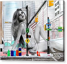 Light Street Acrylic Print by Gil Fong