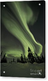 Light Swirls Over The Midnight Dome Acrylic Print by Priska Wettstein