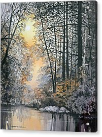 Light Through The Woods Acrylic Print