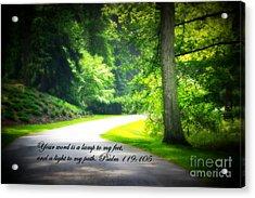 Light To My Path Acrylic Print