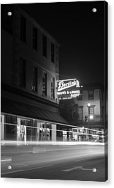 Light Trails Acrylic Print by Andrew Crispi