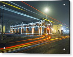 Acrylic Print featuring the photograph Light Trails by Jaroslaw Grudzinski