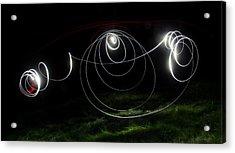 Lightbrush Doodle Acrylic Print