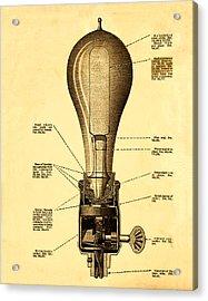 Lightbulb Patent Acrylic Print by Bill Cannon