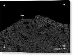 Lighted Cross Acrylic Print by Robert Bales