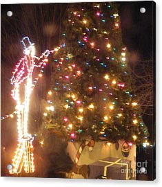Lighted Decorating Of Tree Acrylic Print