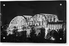 Acrylic Print featuring the photograph Lighted Pedestrian Bridge  by Robert Hebert