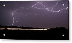 Acrylic Print featuring the photograph Lightening Bolts by Charles Beeler