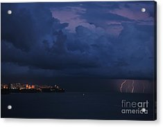 Lightening Acrylic Print by Erhan OZBIYIK