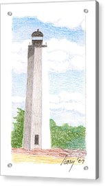 Acrylic Print featuring the drawing Lighthouse 1 by Rod Ismay