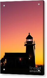 Acrylic Print featuring the photograph Lighthouse 1 by Theresa Ramos-DuVon