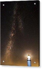 Lighthouse And Milky Way Acrylic Print