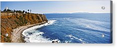 Lighthouse At A Coast, Point Vicente Acrylic Print by Panoramic Images