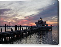 Acrylic Print featuring the photograph Lighthouse At Dawn by Gregg Southard