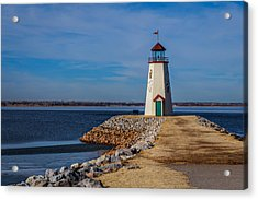 Lighthouse At East Wharf Acrylic Print