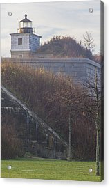 Lighthouse At Fort Rodman Acrylic Print