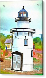 Acrylic Print featuring the photograph Lighthouse At Old Saybrook Point by Edward Fielding