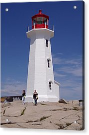 Lighthouse At Peggy's Cove Acrylic Print by Brenda Anne Foskett