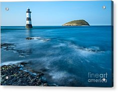 Lighthouse At Penmon Point Acrylic Print by Adrian Evans