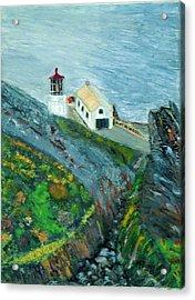 Lighthouse At Point Reyes California Acrylic Print
