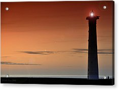 Acrylic Print featuring the photograph Lighthouse At Sunrise by Julis Simo