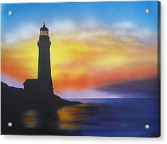 Lighthouse At Sunset Acrylic Print