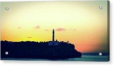 Lighthouse At Sunset Acrylic Print by Wladimir Bulgar