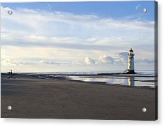 Lighthouse At Talacre Acrylic Print by Spikey Mouse Photography