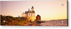 Lighthouse At The Coast, Rose Island Acrylic Print