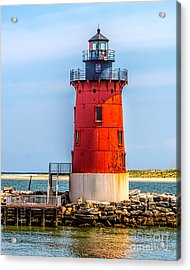 Lighthouse At The Delaware Breakwater Acrylic Print