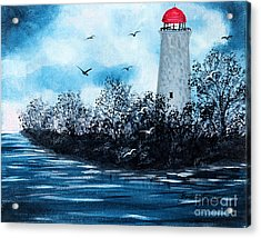 Lighthouse Blues Acrylic Print by Barbara Griffin