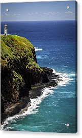 Acrylic Print featuring the photograph Lighthouse By The Pacific by Debbie Karnes