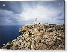 Lighthouse Caballeria Acrylic Print by Antonio Macias Marin