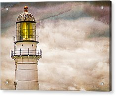 Lighthouse Cape Elizabeth Maine Acrylic Print by Bob Orsillo